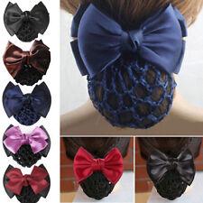 Women  Bow Barrette Hair Clip Cover Bowknot Bun Snood Hair Accessories s/#