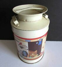 """Barnum in the Barn 1989 Milk Can Metal Tin Vintage with wear 4x6.25"""" Free Sh"""