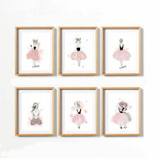 Art Wall Pictures Girls Prints Kids Baby Bedroom Decor Cartoon Posters No Frame