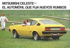 Old Print.  Yellow Mitsubishi Celeste (Argentinian)