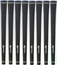 "8 NEW Karma Black Velvet Midsize Golf Grip Mid size (+1/32"")"