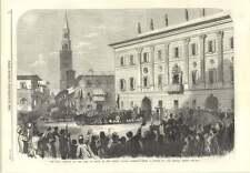 1866 War Arrival King Of Italy Royal Palace Cremona
