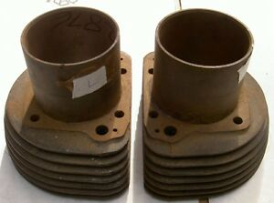 1956-59 AJS Matchless G11 600cc 7 fin pair cylinders L