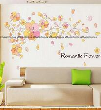 Viti fiori farfalle ROMANTICO Adesivo Parete Arte Decor Decalcomania TV SALOTTO LETTO