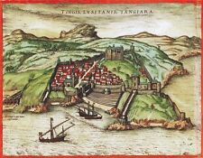 Reproduction plan ancien de Tanger 1572