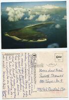 12287 - Nordseebad Insel Langeoog - Fliegeraufnahme - AK, gelaufen in die DDR