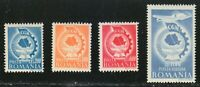 Romania 1947 MNH Mi 1037-1040 Sc 639-641+C27 Congress of the United Labor Unions