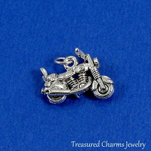 Silver MOTORCYCLE Biker CHARM PENDANT
