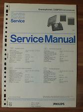 Plattenspieler 22GF651 Gramophon Philips Service Manual Serviceanleitung