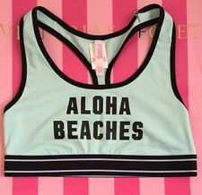 Victoria's Secret PINK Nation Aloha beaches Sports Bra Racerback Sz M mint green