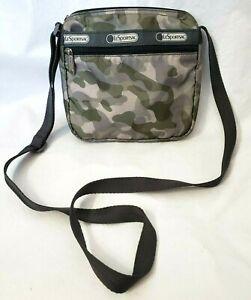 LeSportsac Mini Purse Bag Slim Zip Travel Crossbody Army Green Camo Camouflage
