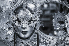 STUNNING VENETIAN CARNIVAL MASK CANVAS #5 ROMANTIC WALL HANGING PICTURE ART A1