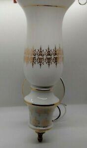 "Vintage 12"" Thomas Industries Glass Globe Ceramic Wall Sconces Set of 2"