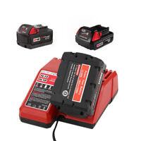 14V/18V Li-ion Battery Charger 110V-240V for MILWAUKEE M18 48-11-2401 48-11-1815