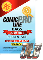 """2mil Crystal Clear OPP Bags- Current Size 6 7/8"""" x 10 1/2""""- 2"""" Flap- 100pk"""