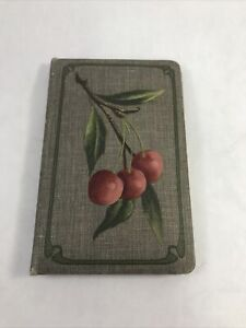 """Vintage Sewing Kit Wallet Cherry Painting Design on Gray 4.25"""" x 2.75"""" Craft"""