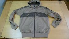 Adidas light weight hooded brown jacket size L