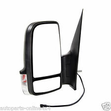 VOLKSWAGEN CRAFTER 2006> MANUAL WING MIRROR BLACK COVER INDICATOR PASS SIDE
