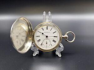 HY MOSER & Ce Sprungdeckel Taschenuhr 84/0.875 Silber Schlüsselaufzug