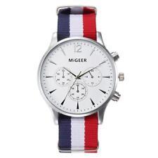 Luxury Fashion Canvas Mens Stainless steel Analog Watch Wrist Watches 37mm
