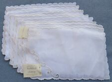 Set of Ten Marghab Simplicity Embroidered Cocktail Napkins Excellent Condition