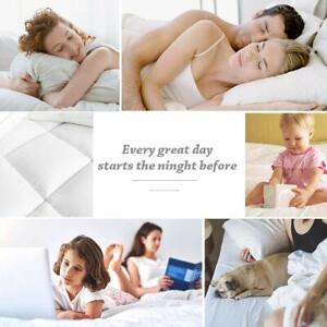 Mattress Pad Cover Cooling Overfilled Quilted Fitted Pillowtop Topper