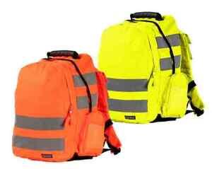 Portwest B905 Standard Hi Vis Rucksack Backpack - Hi Vis Yellow or Orange
