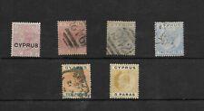 Chipre. Conjunto de 6 sellos diferentes