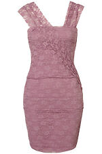 Topshop Lilac Lace Bandage Bodycon Dress UK 6 EURO 34 US 2 BNWT