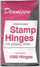 1 package Dennisen Prefolded stamp hinges - 1000 per package - new and sealed