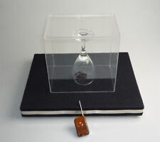 2 in 1 Glass Breaking Tray Pro Remote Control coin into Glass Stage Coin Magics