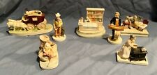 Sebastian Miniatures Lot Candy Store Stagecoach Doctor Huckleberry Finn Etc