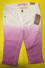 NWT Little Girls Red Camel White FADE Purple Capris Adjustable Waist 10 New B2S