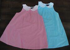 NWT Ralph Lauren Girls Sleeveless Gingham Lace Party Dress Sz 10 12 14 NEW $70