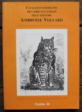 BIBLIOGRAPHIE Catalogue complet Livres Ambroise VOLLARD Ed. Italienne Expo MILAN