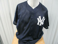 VINTAGE MAJESTIC AUTHENTIC  NEW YORK YANKEES SEWN XL BLUE JERSEY PREOWNED
