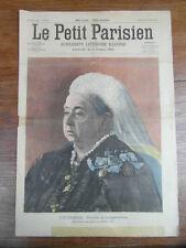LE PETIT PARISIEN 1901 Queen VICTORIA / Wedding killed by wolves  (626)