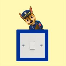 Chase Paw patrol_Light Switch_ Wall Art _Funny Decal Vinyl Sticker