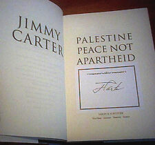 JIMMY CARTER PALESTINE PEACE NOT APARTHEID 2006 Hand SIGNED FIRST ED 1st Pr HCDJ