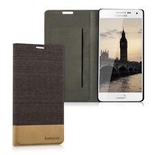 kwmobile Flip Hülle für Samsung Galaxy A5 (2015) Anthrazit Braun Schutzhülle