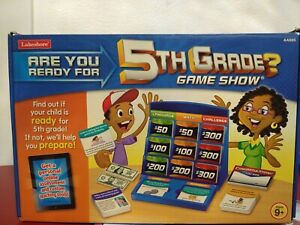 Lakeshore Are You Ready For 5th Grade Game Show Learning System Home School NEW