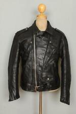 Vtg 50s Donald S Levigne STEERHIDE Leather Motorcycle Biker Jacket Large