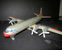 Vintage 50's Marx Line Mar Tin Battery Airplane American Airlines N6100A Japan