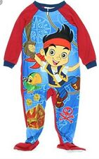 NEW Jake And The Neverland Pirates Boys Size 5 5T Footed Pajamas BLANKET SLEEPER