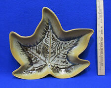 Large Leaf Shaped Stoneware Tray Decoration Country Originals Centerpiece 12.5""