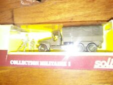 Solido No. 6032, GMC Army Truck w/2 Soldiers Collection Militaire 1, 1:50 Scale