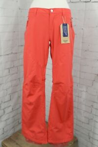 Burton Society Snowboard Pants, Women's Size Small, Coral Pink New