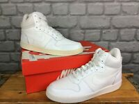 NIKE MENS UK 7.5 EU 42 WHITE COURT BOROUGH MID BASKETBALL TRAINERS  EP
