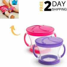 Toddler Snack Catcher Containers Spill Proof Lid Snack Car Cups Holder 2 Piece