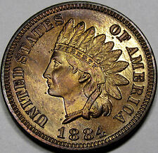 1884 Proof Indian Cent Gem Proof RB... 100% Original with Great Eye Appeal, NICE
